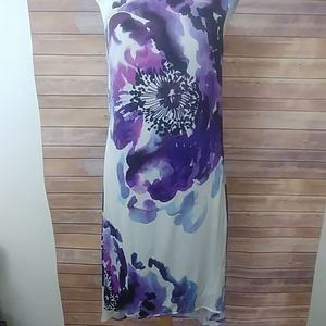 Trina Turk Floral Dress with Hi Lo Hem size 6 NWT